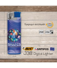αναπτήρας BIC j38 Digital Lighter