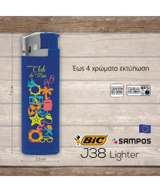 αναπτήρας BIC j38 Lighter Chrome Hood